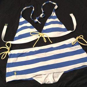⭐️EUC -Ralph Lauren -Blue, White & Yellow Swimsuit